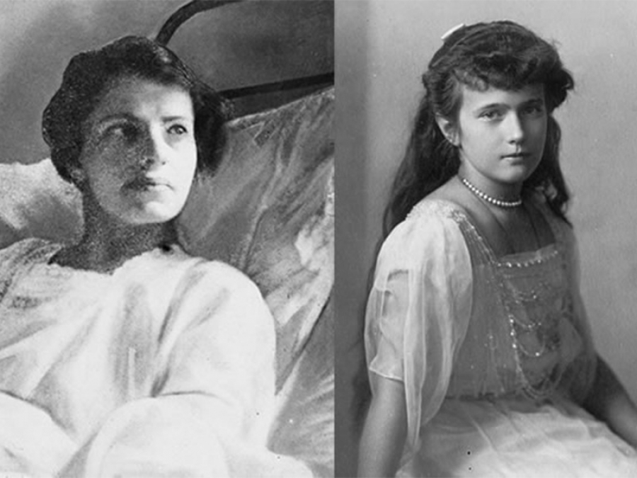 Anna Anderson (a sinistra) e Anastasia