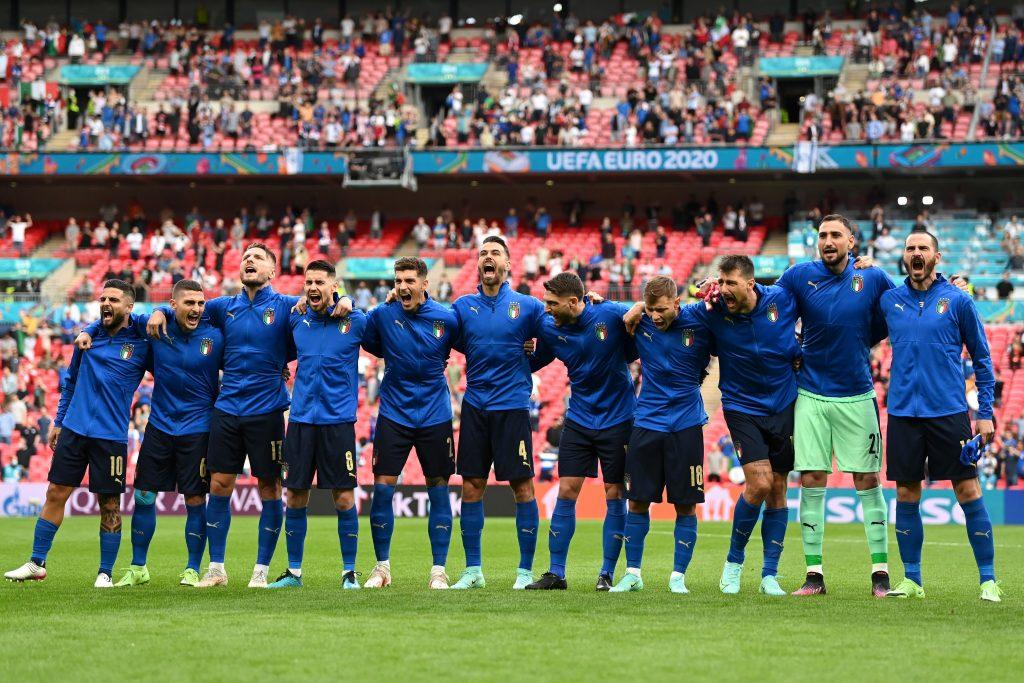 Euro 2020: il momento Inno di Mameli